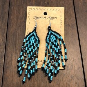 Black and turquoise earrings